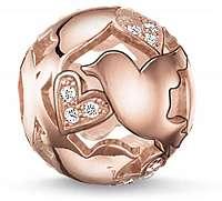 Thomas Sabo Bronzový zamilovaný korálku K0132-416-14