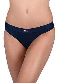 Tommy Hilfiger Dámske nohavičky Flag Core CTN Thong Navy Blazer UW0UW01051 -416 S