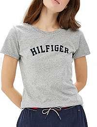 Tommy Hilfiger Dámske tričko Cotton Iconic Logo SS Tee Print UW0UW00091-004 Grey Heather XS