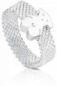 Tous Strieborný prsteň s medvedíkom 010390200 mm