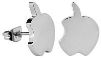 Troli Kôstkové oceľové náušnice nahryznuté jablko
