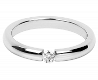 Troli Nežný oceľový prsteň s kryštálom 57 mm