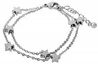 Troli Oceľový náramok s hviezdičkami