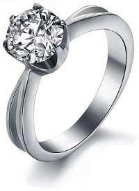 Troli Oceľový prsteň s kryštálom KRS-174 mm