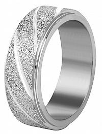 Troli Oceľový snubný prsteň strieborný / trblietavý 59 mm