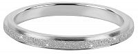 Troli Oceľový trblietavý prsteň KR-01 Silver mm