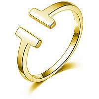 Troli Otvorený pozlátený prsteň z ocele mm