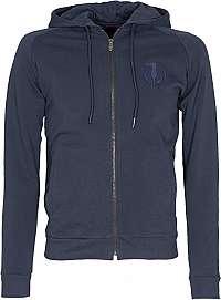 Trussardi Pánska mikina Full Zip Fleece With Hood Pure Cotton Regular Fit XL