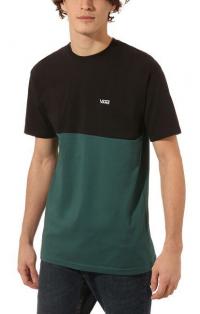 VANS Pánske tričko Colorblock Tee Black/Vans Trekking Green VN0A3CZDTNB1 XL