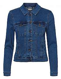 Vero Moda Dámska džínsová bunda VMHOT 10193085 Medium Blue Denim XS