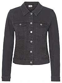 Vero Moda Dámska džínsová bunda VMHOT SOYA 10193085 Black M