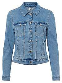 Vero Moda Dámska džínsová bunda VMHOT SOYA 10193085 Light Blue Denim L