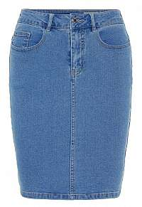 Vero Moda Dámska sukňa Hot Nine Hw DNM Pencil Skirt Mix Noos Light Blue Denim XS