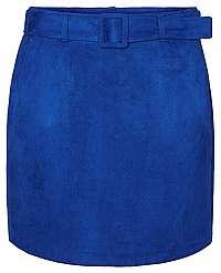 Vero Moda Dámska sukňa VMCHILI faux SUEDE HW SHORT SKIRT Sodalite Blue XS