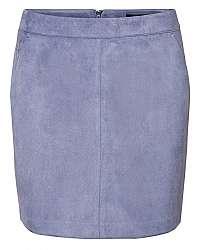 Vero Moda Dámska sukňa VMDONNADINA faux SUEDE SHORT SKIRT COL Blue Ice M