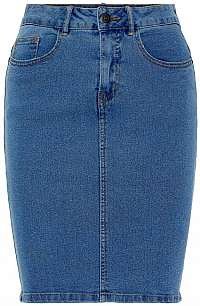 Vero Moda Dámska sukňa VMHOT NINE 10193076 Medium Blue Denim M