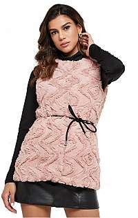 Vero Moda Dámska vesta VMCURL faux FUR Waistcoat Mist y Rose S
