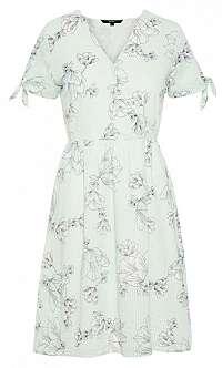 Vero Moda Dámske šaty Sally Ss Hab Dress Wvn Bok Choy S