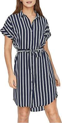 Vero Moda Dámske šaty VMSASHA SHIRT SS DRESS GA COLOR Navy Blaze r COCO XS