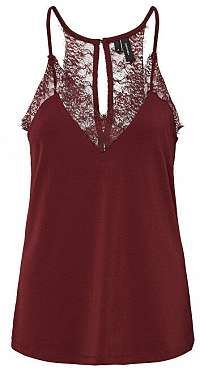 Vero Moda Dámske tielko Milla S/L Lace Top Noos Port Royal L