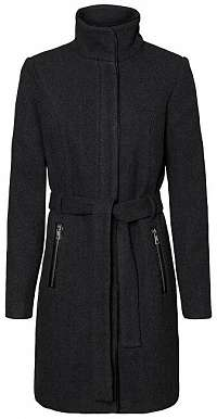 Vero Moda Dámsky kabát VMBESSY CLASS 3/4 WOOL JACKET NOOS Dark Grey Melange L