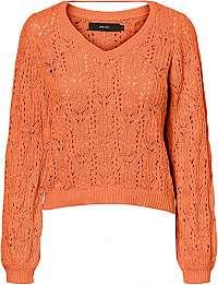 Vero Moda Dámsky sveter VMDEYRA LS V-NECK Blouse Coral Rose M