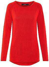 Vero Moda Dámsky sveter VMNELLIE GLORY LS LONG Blouse COLOR Chinese Red L