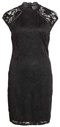Vila Dámske šaty Stasia Capsleeve Lace Dress-Ev Black M