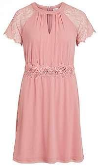 Vila Dámske šaty Vifinnea S/S Dress/Dc Brandied Apricot XL
