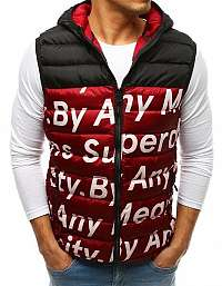 Atraktívna bordová vesta s módnou potlačou