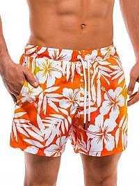 Atraktívne oranžové pánske plavky w147