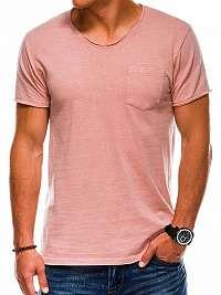 Atraktívne tričko s1037 v ružovej farbe