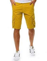Atraktívne žlté kapsáčové kraťasy