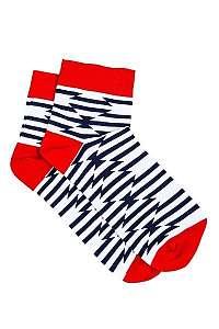 Biele členkové vzorované ponožky U13