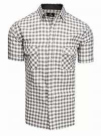 Bielo-šedá károvaná košeľa