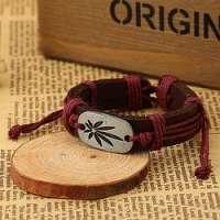 Bordó náramok s marihuanou