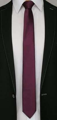 Bordová pásikavá kravata