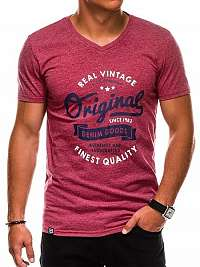 Bordové trendy pánske tričko s1157