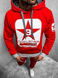 Červená mikina s kapucňou Cool Star JS/Y10001BZ