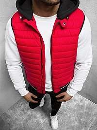 Červená vesta s kapucňou N/6709
