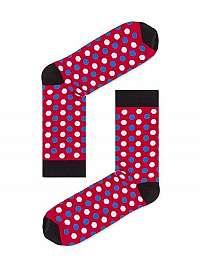 Červené bodkované pánske ponožky U21