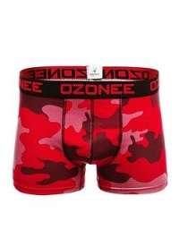 Červené maskáčové boxerky OZONEE 0953 - M