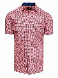 Červeno-biela károvaná košeľa