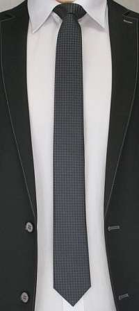 Čierna kockovaná kravata