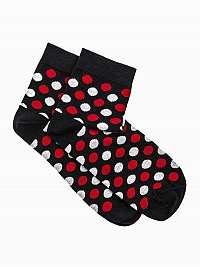 Čierne botaskové ponožky s bodkami U09
