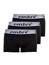 Čierne pánske boxerky OMBRE (3ks)  U06