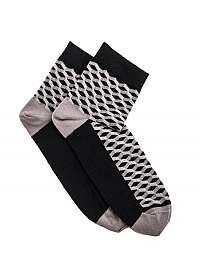 Čierne ponožky s trendy vzorom U08