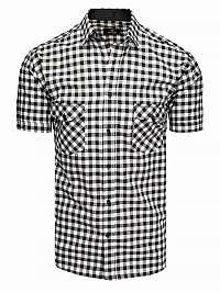 Čierno-biela károvaná košeľa