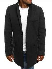 Čierny pánsky kabát - XL