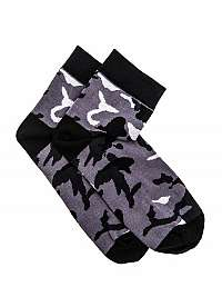 Členkové maskáčové ponožky sivé U10